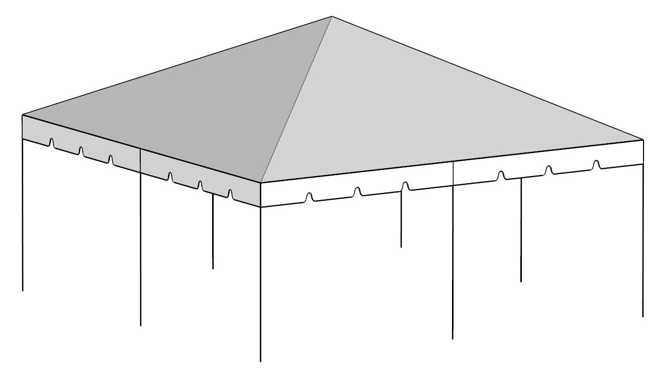20x20 Complete Frame Tent